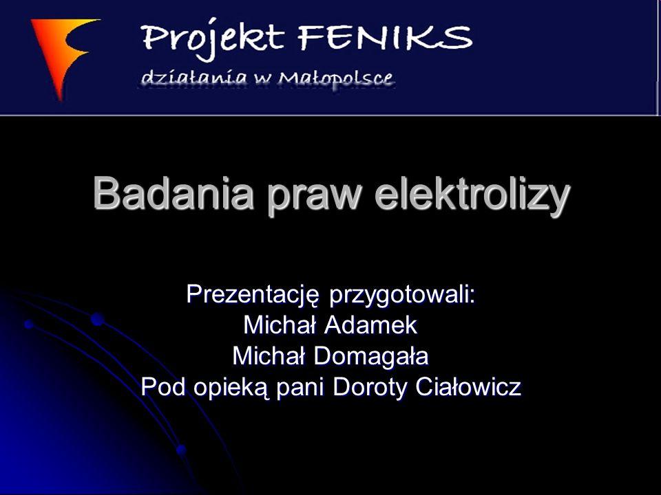 Badania praw elektrolizy