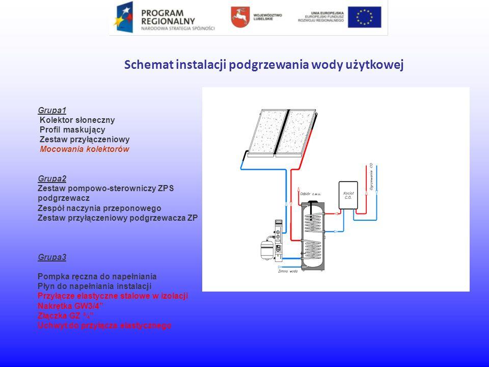 Schemat instalacji podgrzewania wody użytkowej