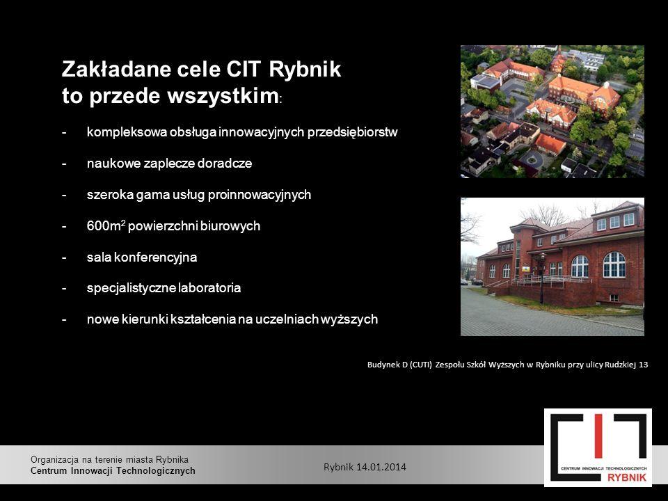 Zakładane cele CIT Rybnik to przede wszystkim: