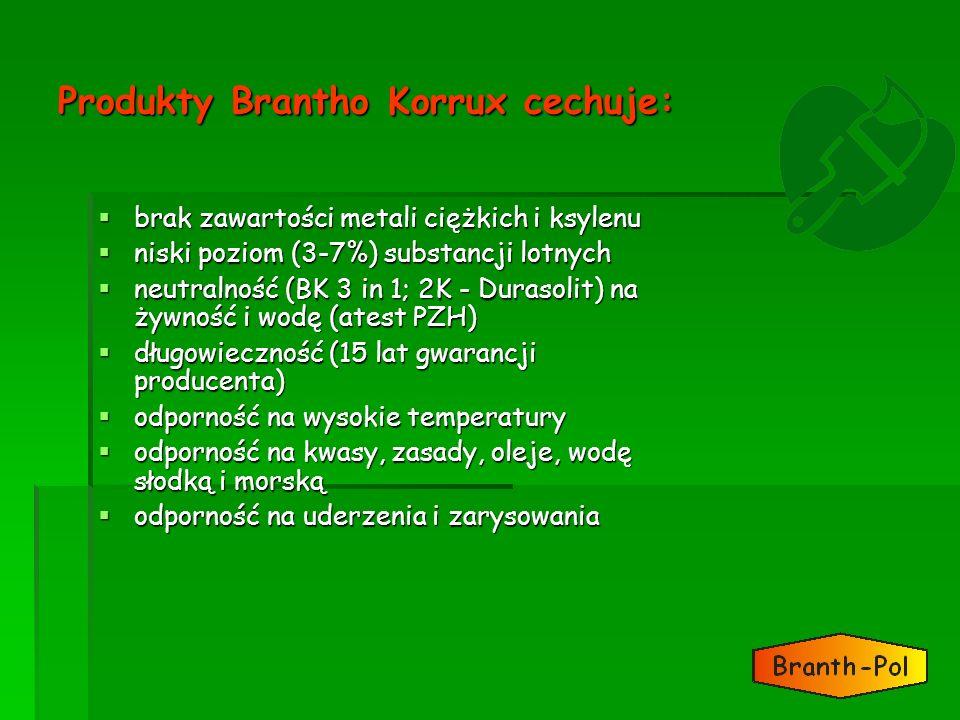 Produkty Brantho Korrux cechuje: