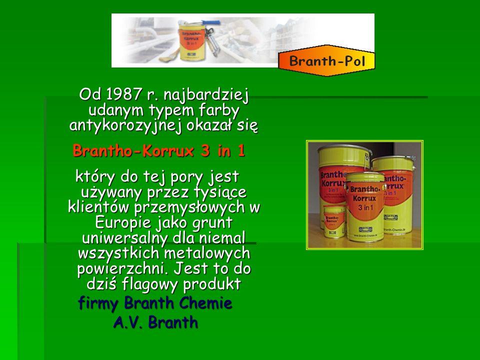 Od 1987 r. najbardziej udanym typem farby antykorozyjnej okazał się