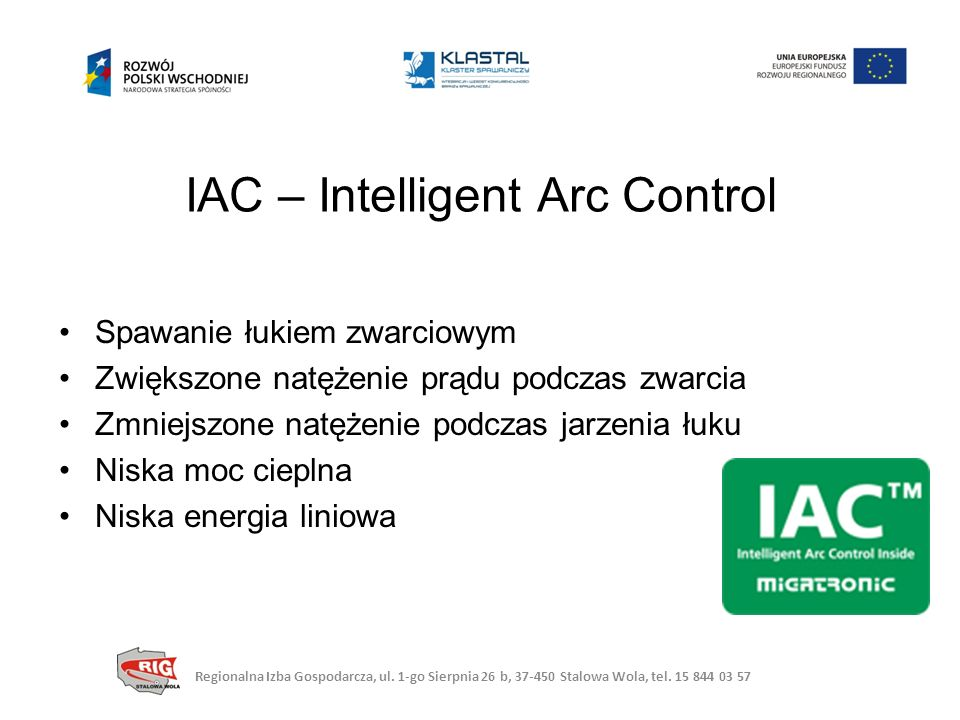IAC – Intelligent Arc Control