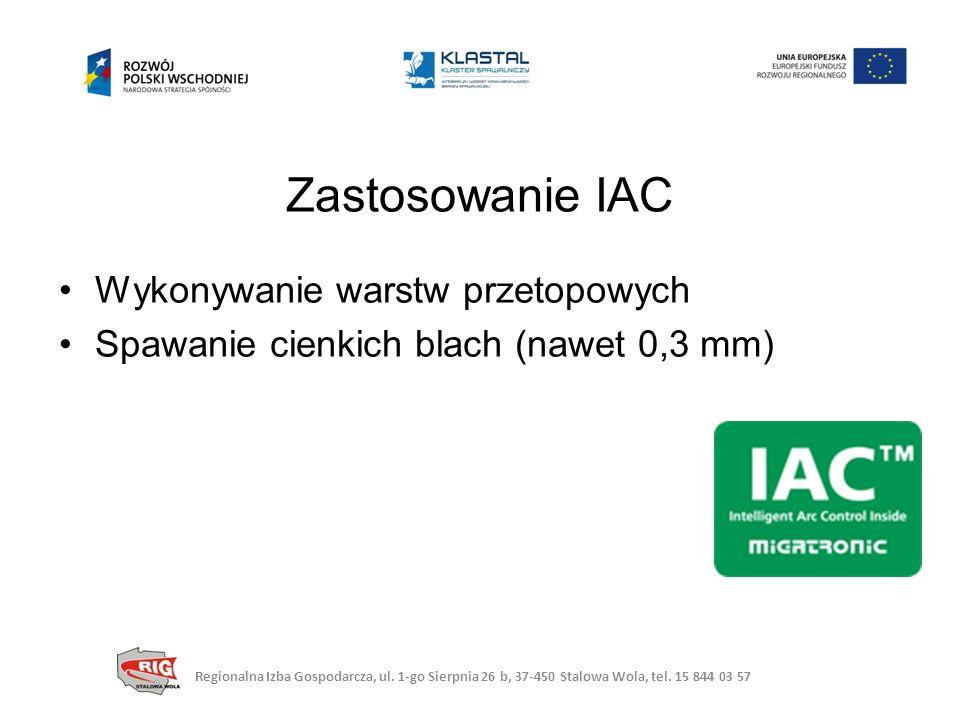Zastosowanie IAC Wykonywanie warstw przetopowych