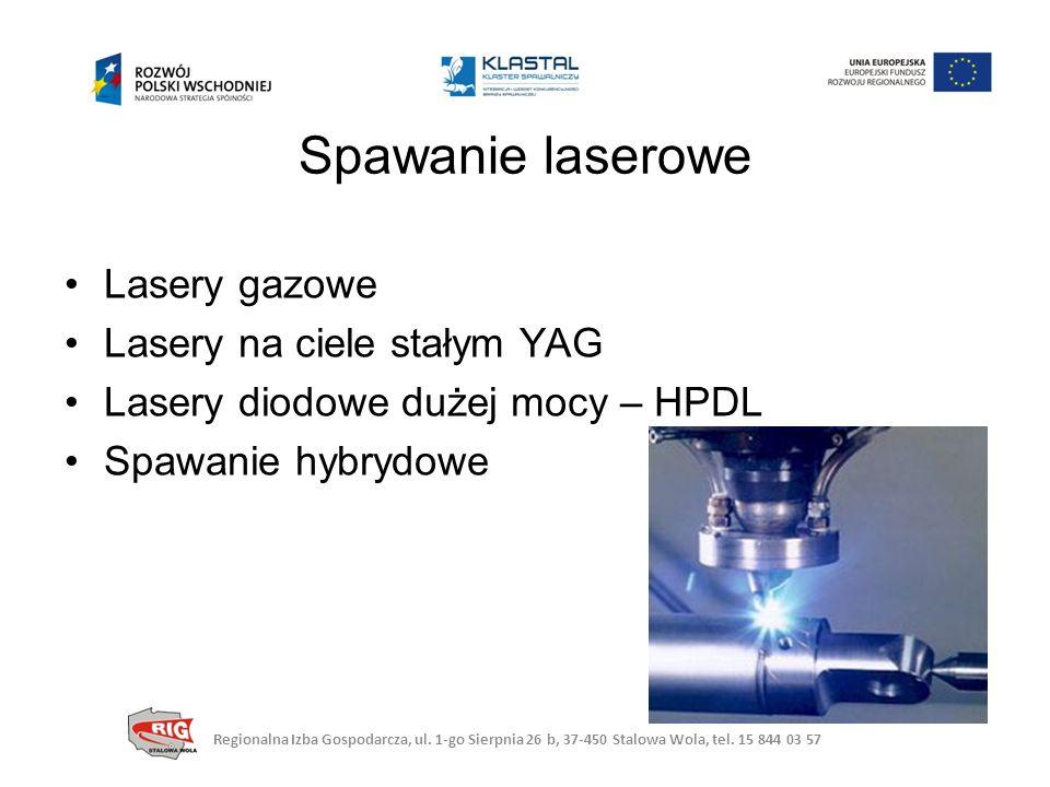 Spawanie laserowe Lasery gazowe Lasery na ciele stałym YAG