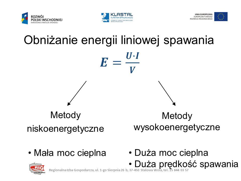 Obniżanie energii liniowej spawania