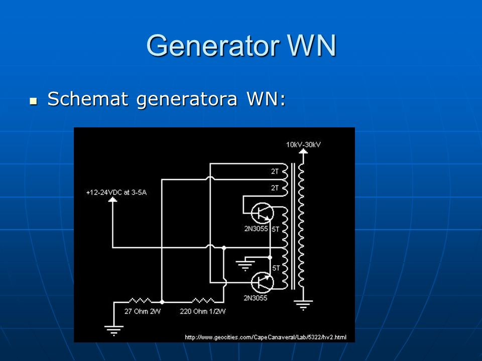 Generator WN Schemat generatora WN: