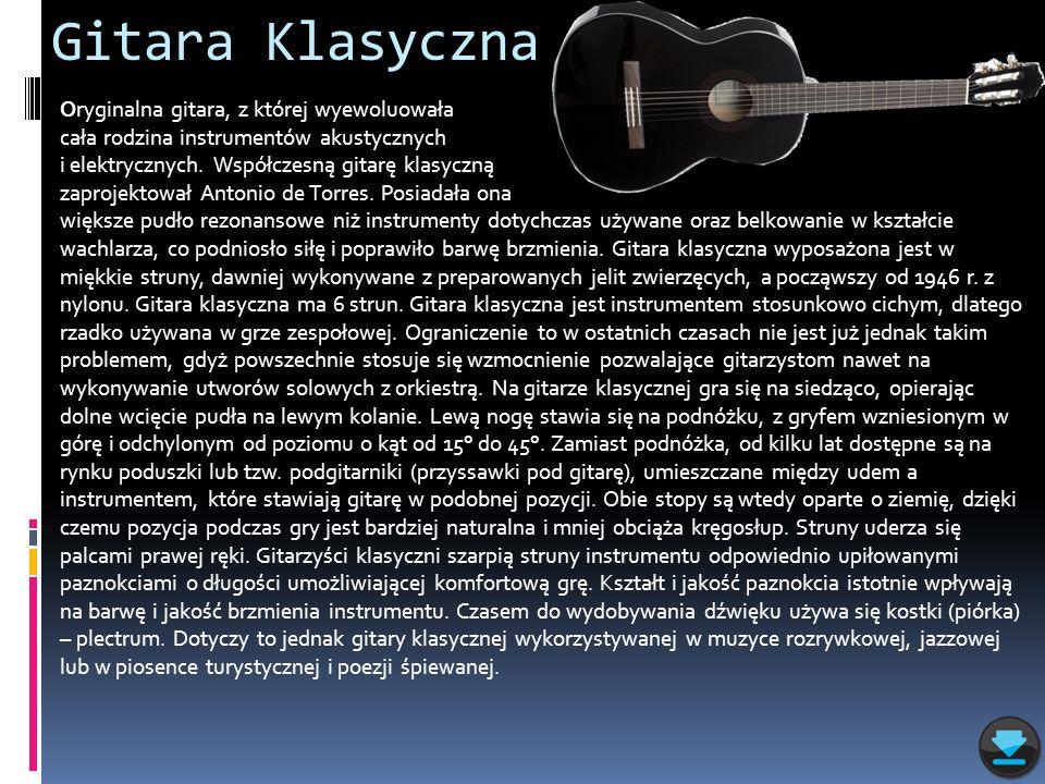 Gitara Klasyczna Oryginalna gitara, z której wyewoluowała
