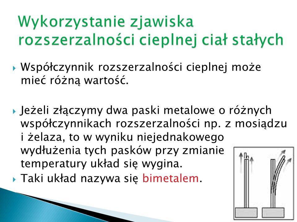 Wykorzystanie zjawiska rozszerzalności cieplnej ciał stałych