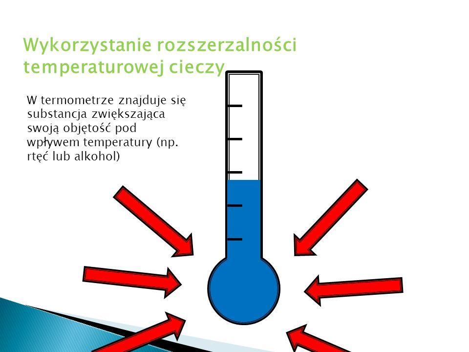 Wykorzystanie rozszerzalności temperaturowej cieczy