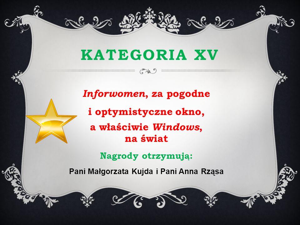 a właściwie Windows, na świat Pani Małgorzata Kujda i Pani Anna Rząsa