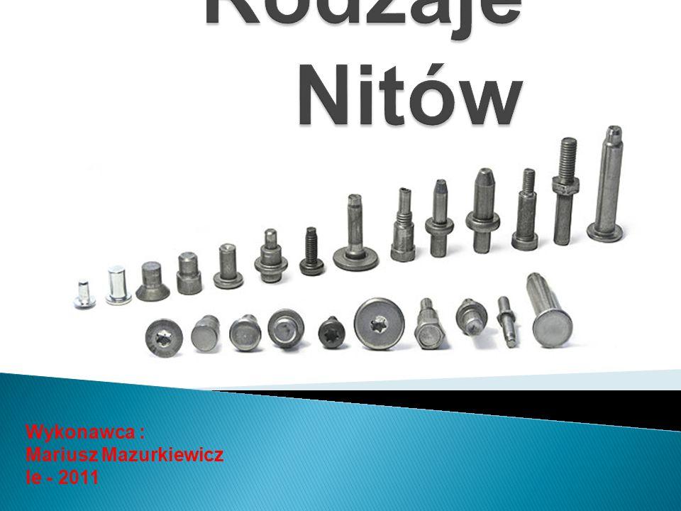 Rodzaje Nitów Wykonawca : Mariusz Mazurkiewicz Ie - 2011