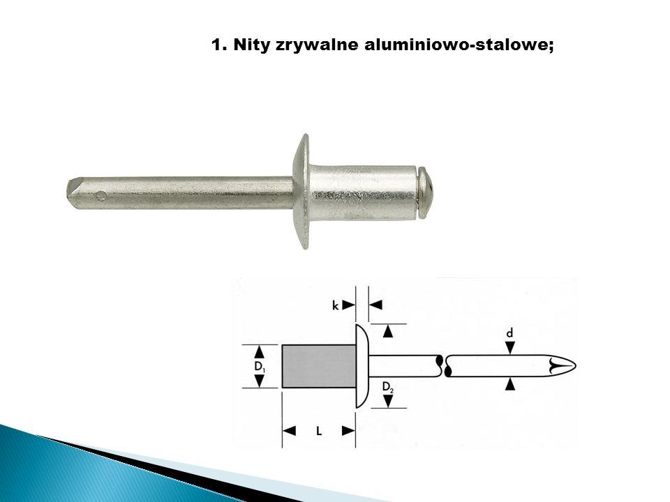 1. Nity zrywalne aluminiowo-stalowe;