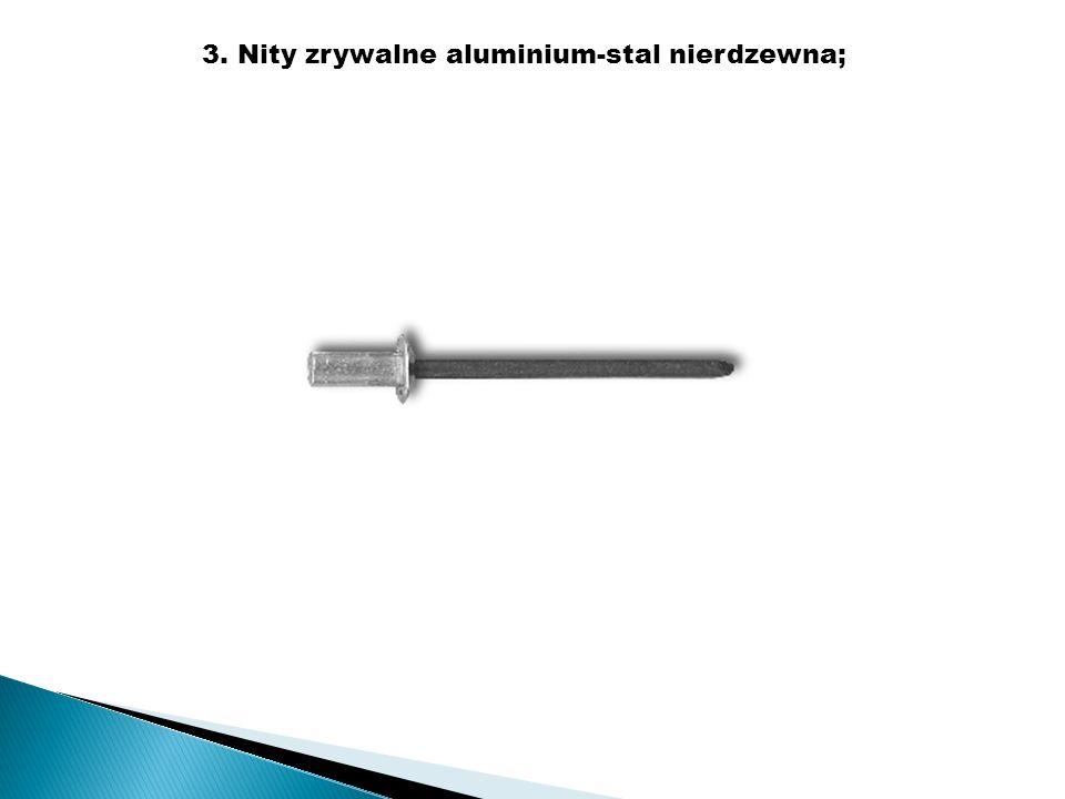 3. Nity zrywalne aluminium-stal nierdzewna;
