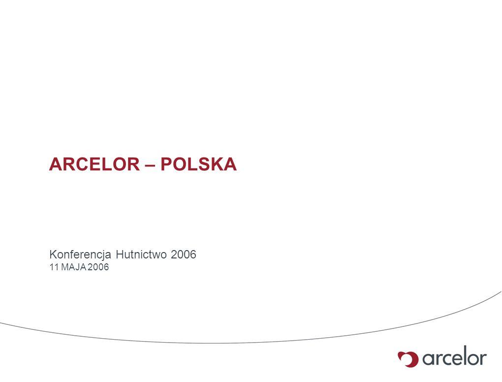 ARCELOR – POLSKA Konferencja Hutnictwo 2006 11 MAJA 2006