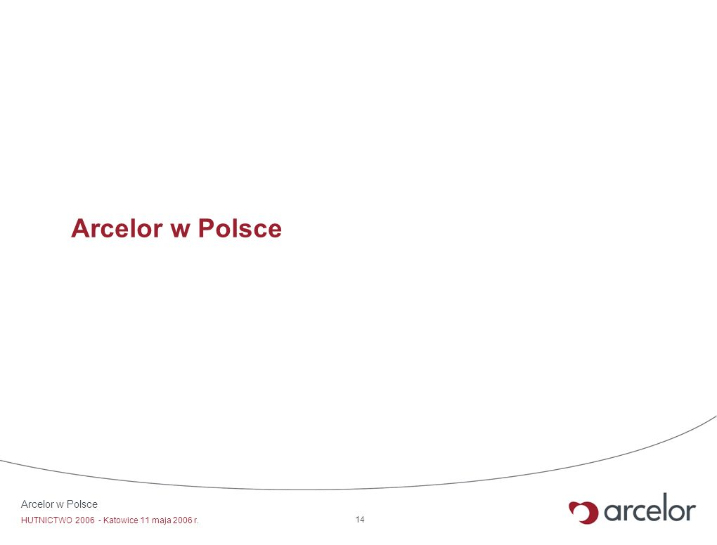 Arcelor w Polsce Arcelor w Polsce