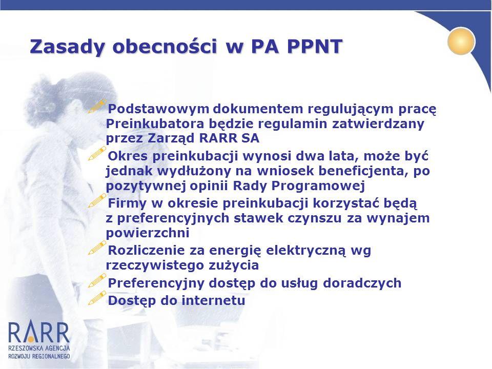 Zasady obecności w PA PPNT