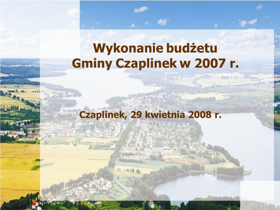 Wykonanie budżetu Gminy Czaplinek w 2007 r.