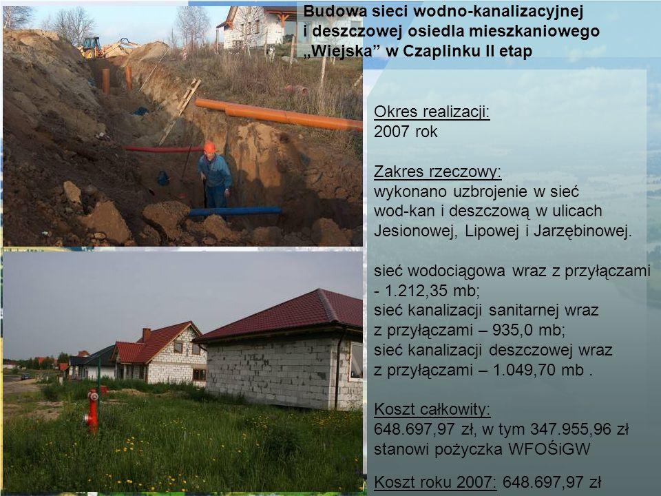 Budowa sieci wodno-kanalizacyjnej