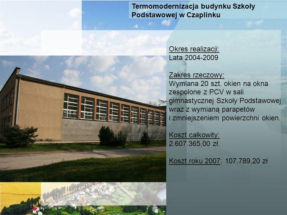 Termomodernizacja budynku Szkoły Podstawowej w Czaplinku