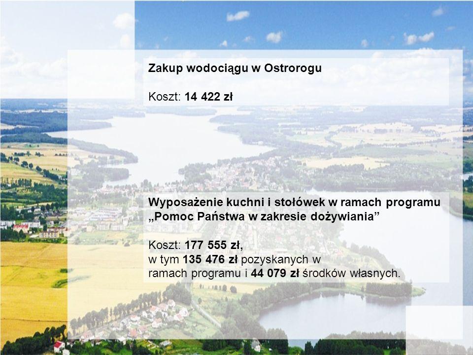 Zakup wodociągu w Ostrorogu