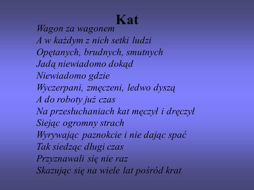 Kat Wagon za wagonem A w każdym z nich setki ludzi