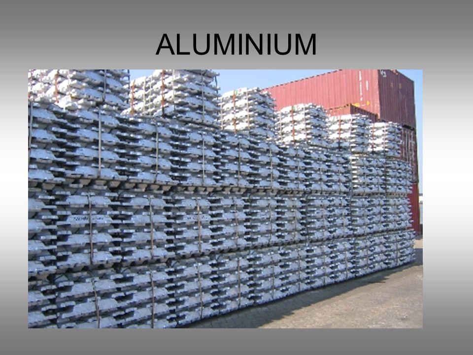 ALUMINIUM Barwa srebrzystobiała Metal lekki