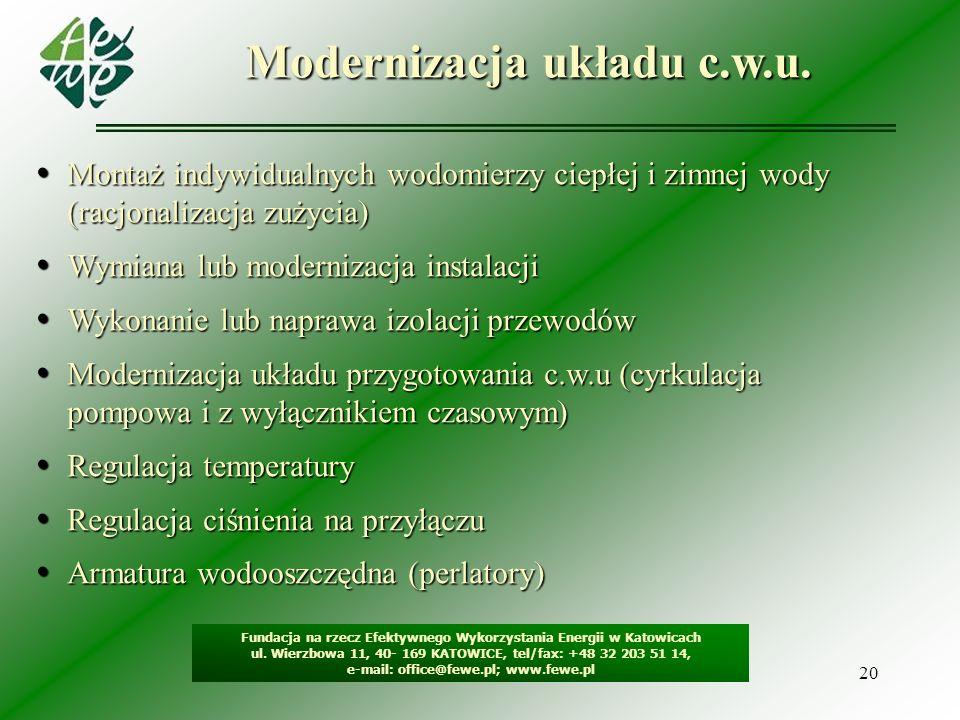 Modernizacja układu c.w.u.