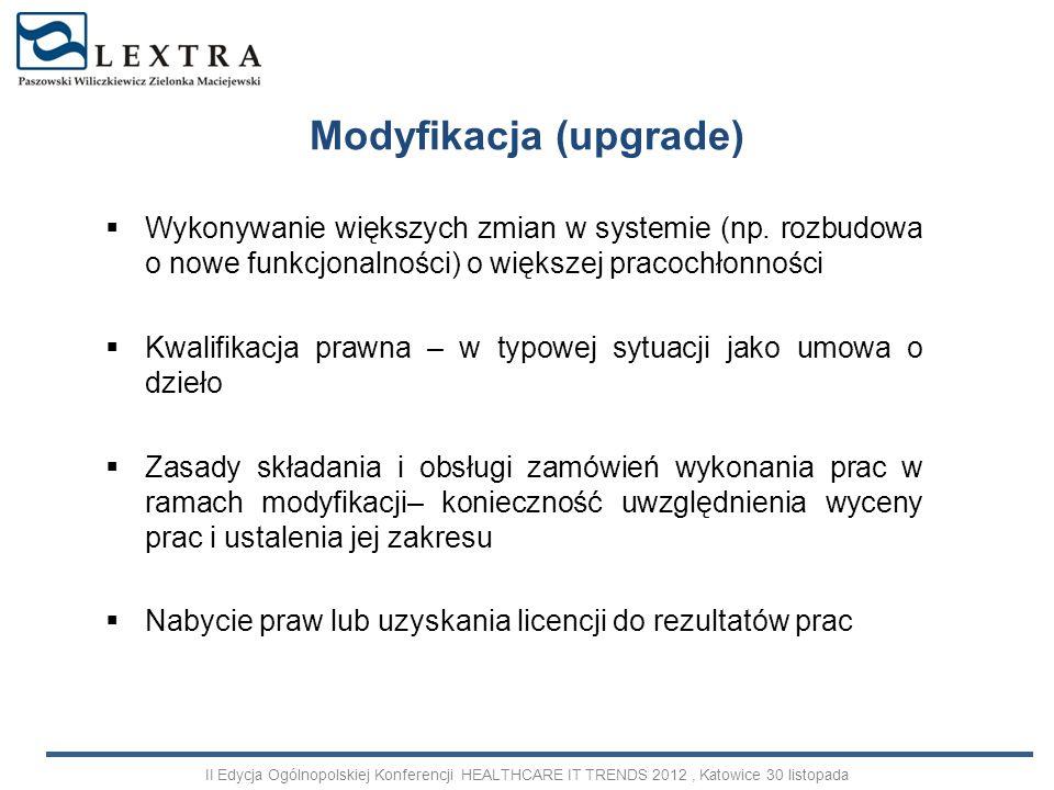 Modyfikacja (upgrade)