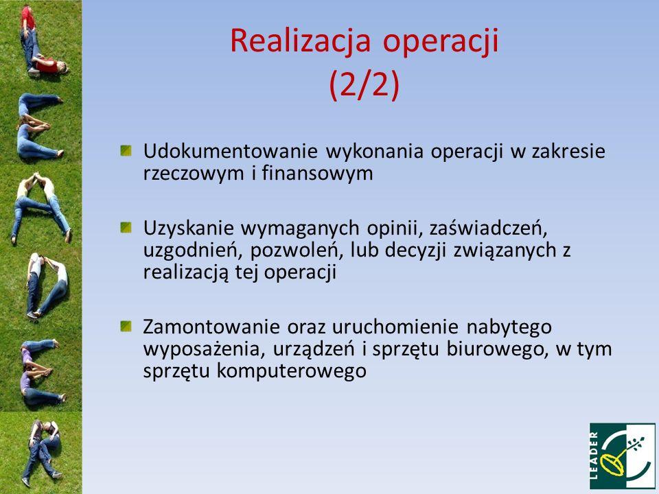 Realizacja operacji (2/2)