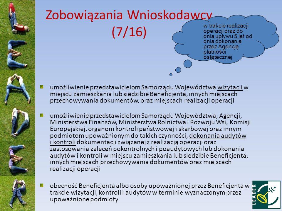 Zobowiązania Wnioskodawcy (7/16)