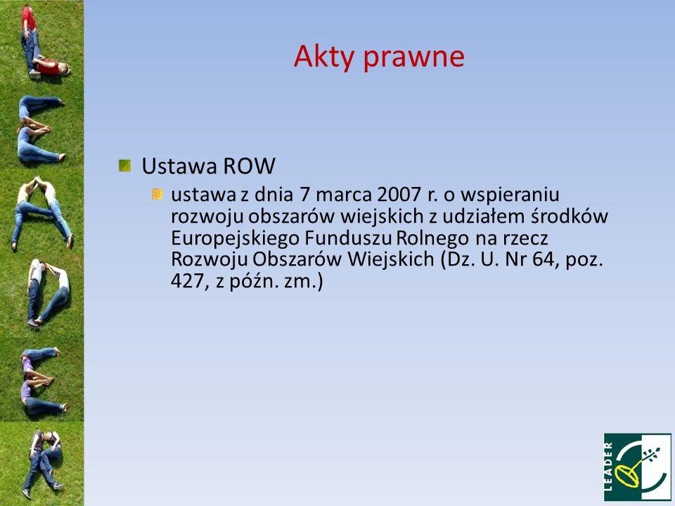Akty prawne Ustawa ROW.