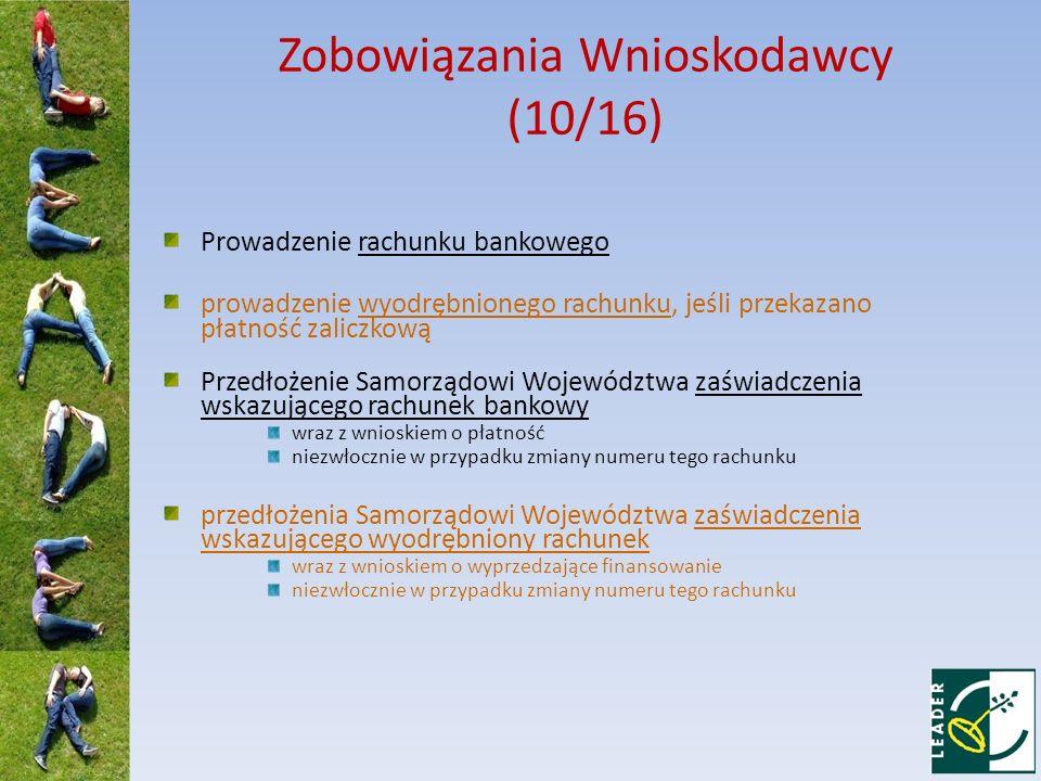 Zobowiązania Wnioskodawcy (10/16)