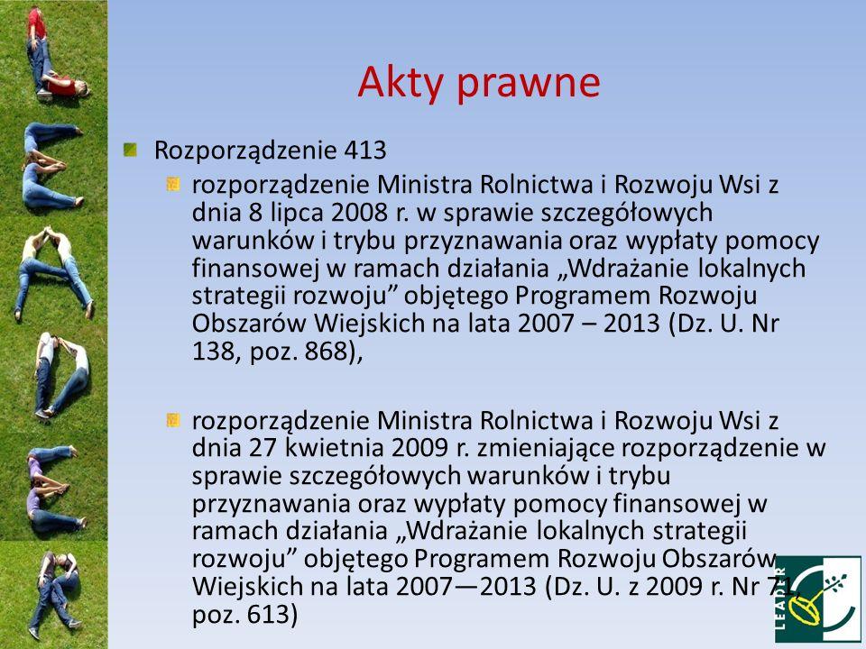 Akty prawne Rozporządzenie 413