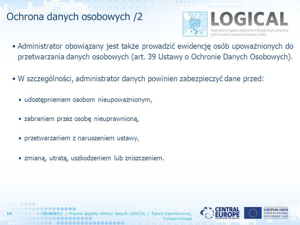 Ochrona danych osobowych /2