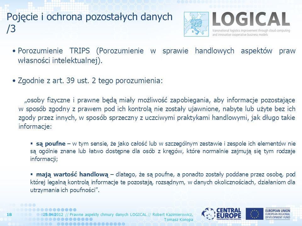 Pojęcie i ochrona pozostałych danych /3