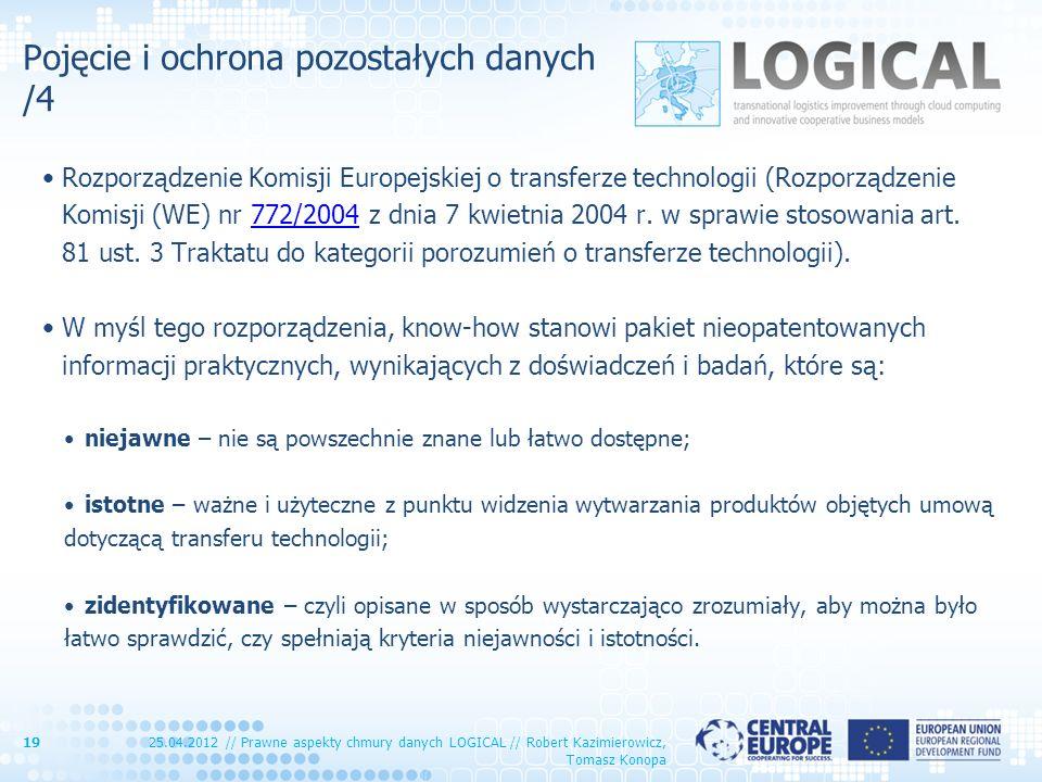 Pojęcie i ochrona pozostałych danych /4