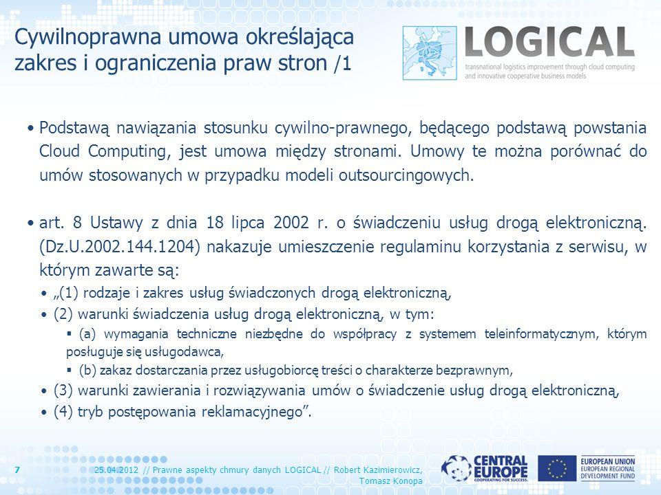 Cywilnoprawna umowa określająca zakres i ograniczenia praw stron /1