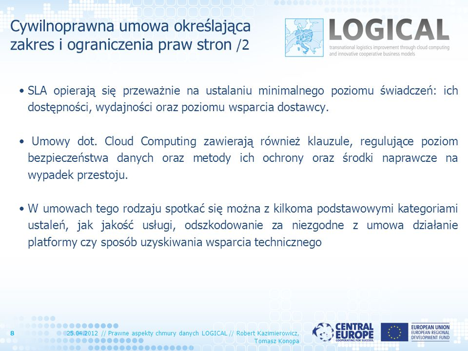 Cywilnoprawna umowa określająca zakres i ograniczenia praw stron /2