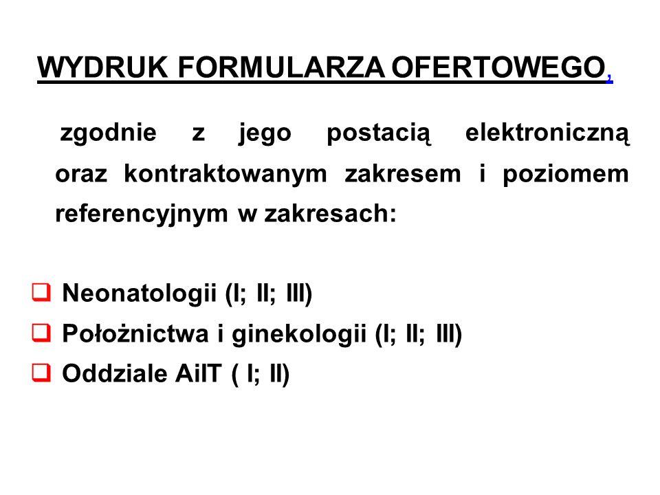 WYDRUK FORMULARZA OFERTOWEGO,