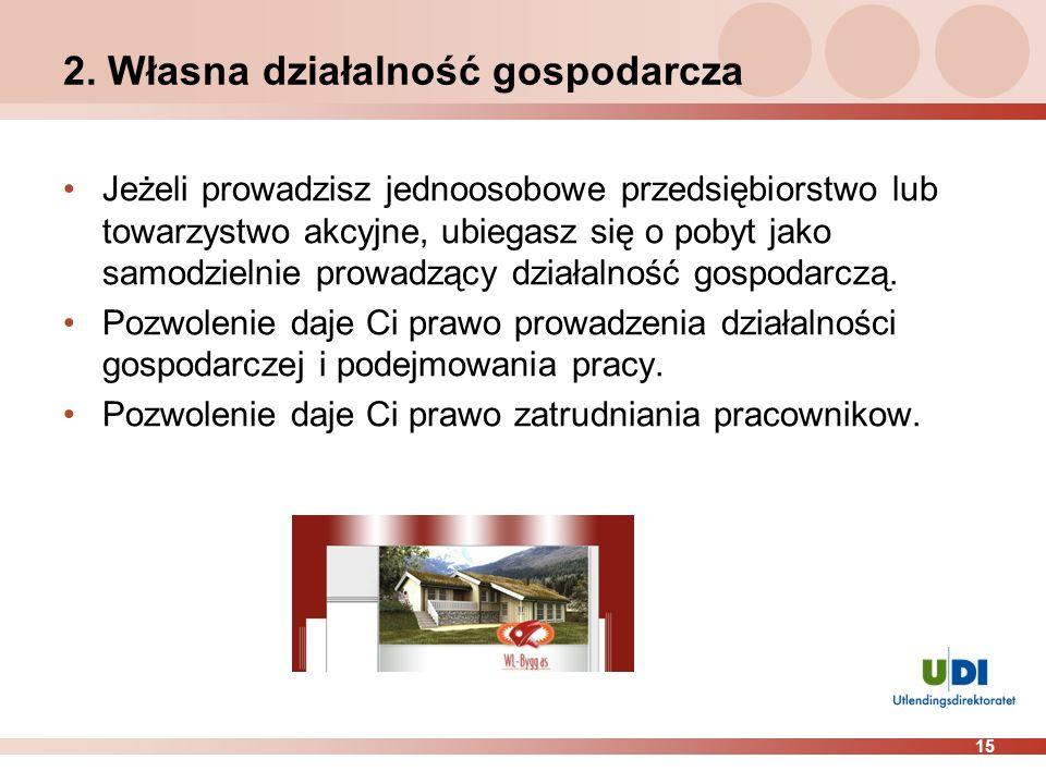 2. Własna działalność gospodarcza
