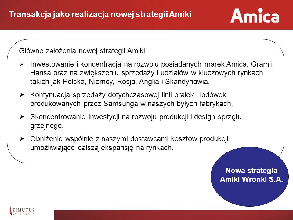 Nowa strategia Amiki Wronki S.A.
