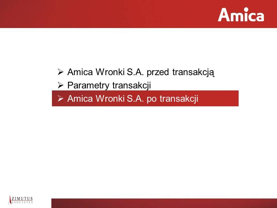 Amica Wronki S.A. przed transakcją