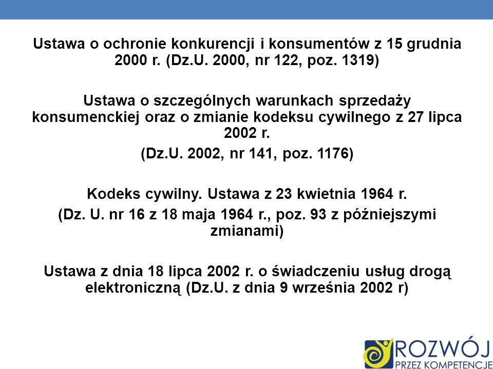 Ustawa o ochronie konkurencji i konsumentów z 15 grudnia 2000 r.