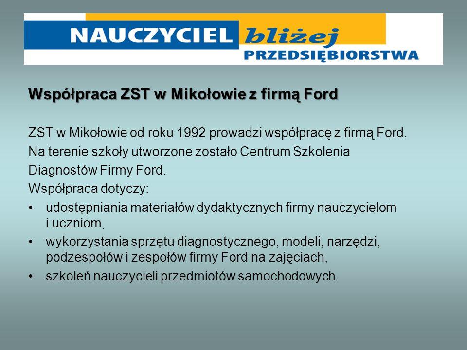 Współpraca ZST w Mikołowie z firmą Ford