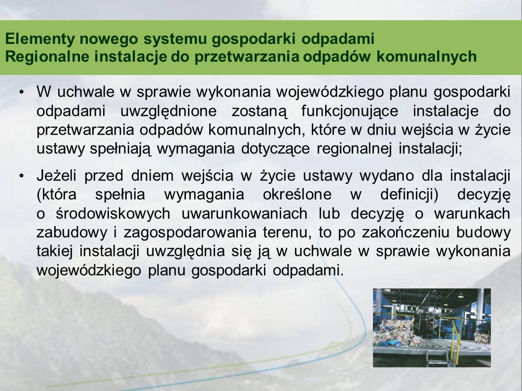 Elementy nowego systemu gospodarki odpadami