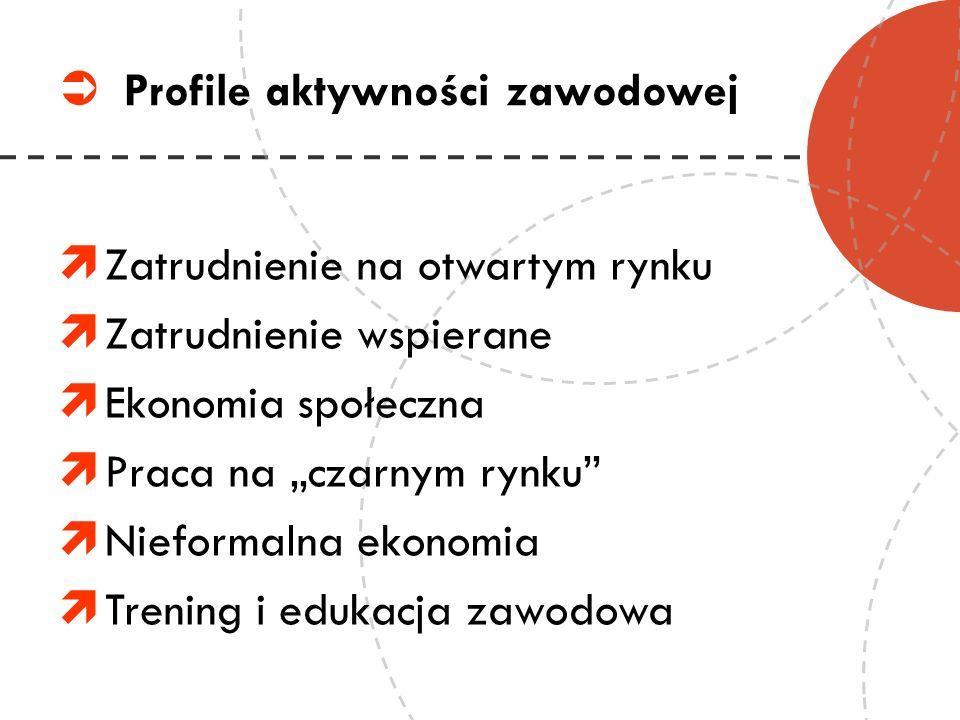 Profile aktywności zawodowej