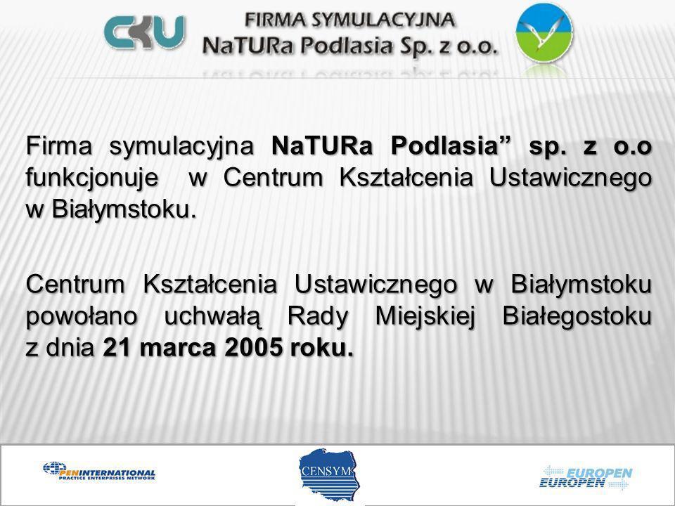 Firma symulacyjna NaTURa Podlasia sp. z o