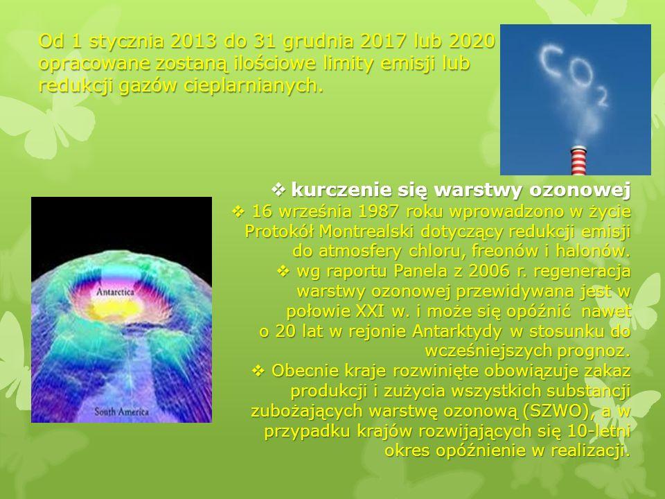 kurczenie się warstwy ozonowej