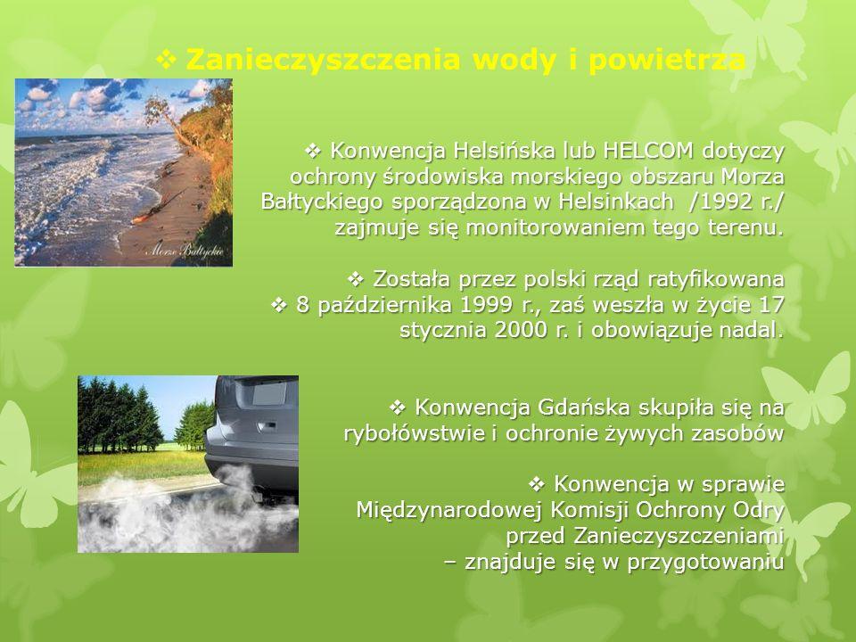 Zanieczyszczenia wody i powietrza