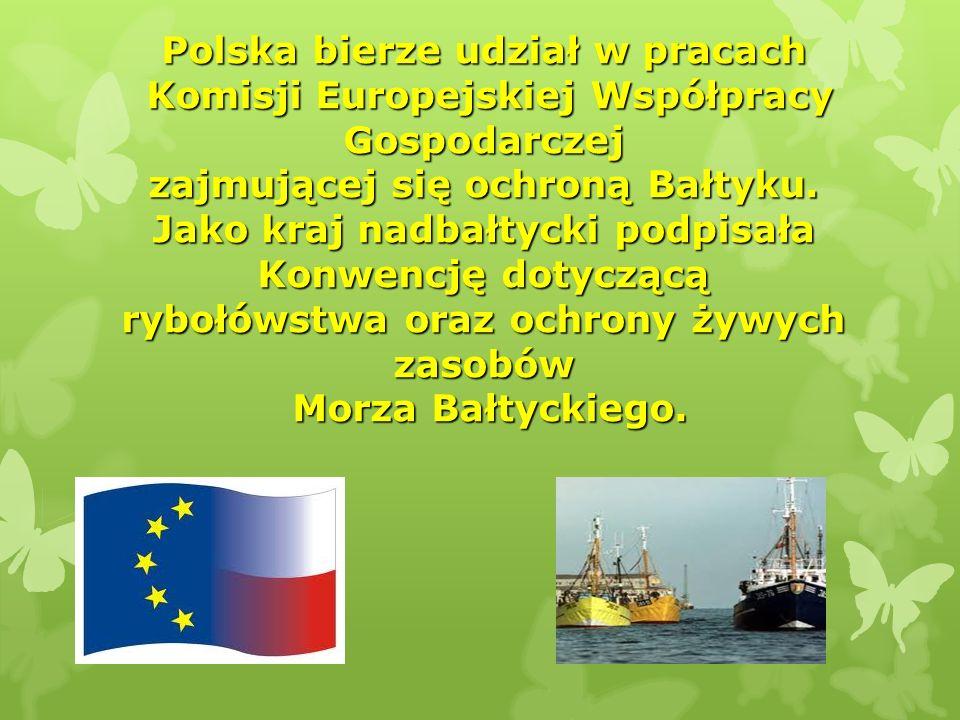 Polska bierze udział w pracach Komisji Europejskiej Współpracy Gospodarczej zajmującej się ochroną Bałtyku.